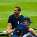 Alex Rodriguez stretches