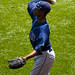 BJ Upton warms up