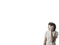 Hello??! (Fahad Nasir -I'm Back- :D) Tags: portrait selfportrait pose 50mm nikon funny blackberry room sb600 australia whitebackground perth nikkor 18 strobe d700 sb900