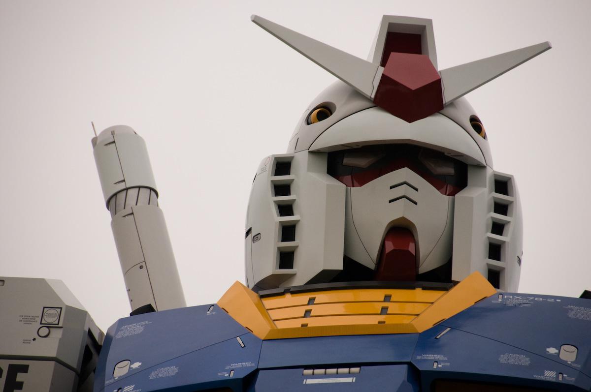 Gundam tamaño real cabeza Tokio