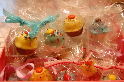 Cake bites, bagged and ready for delivery