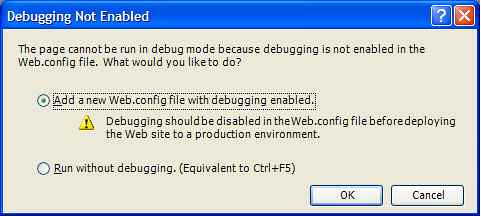Debugging Not Enabled