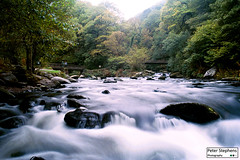 Watersmeet (Peter Stephens Photography) Tags: watersmeet exmoor devon england water blury movment waterfall green trees longexposure film canon canont90 lynton lynmouth fast flowingwater movingwater fastwater nationalpark