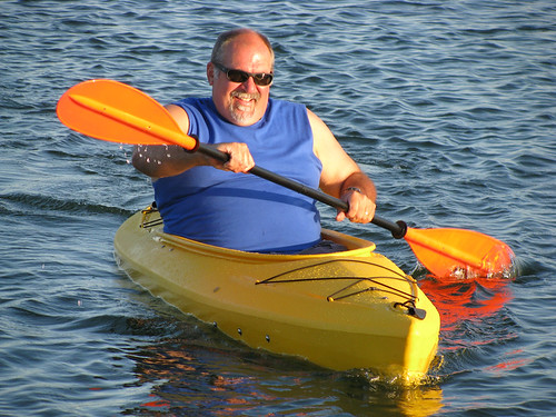 Dad Kayaking