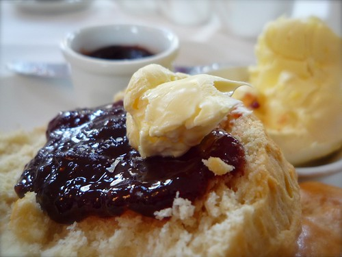 Scone with west country clotted cream