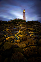 Looking up (dan barron photography - landscape work) Tags: longexposure sunset portrait landscape web northumberland stmaryslighthouse nosea anotherperspective