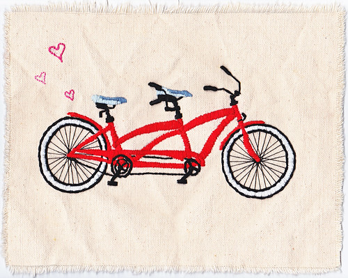 Tandem Love embroidery