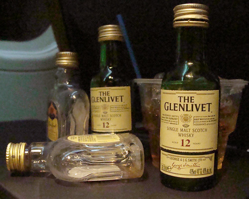 Booze on a plane