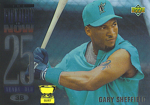 Baseball Card Bust Gary Sheffield 1994 Upper Deck