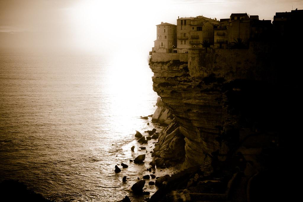 Cliff dwellers, Bonifacio, Corsica, France