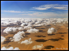 Clouds and Their Shadows ! (Bashar Shglila) Tags: world blue shadow sky white window clouds photography gallery view desert photos top aircraft low aerial best most worlds popular libya cessna libia libyen lbia libi abigfave f406 libiya liviya libija platinumheartaward   thepowerofnow   lbija  lby libja lbya liiba livi  bunjaim