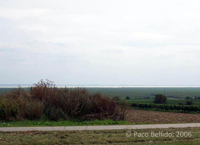 El lago visto desde la carretera. © Paco Bellido, 2006
