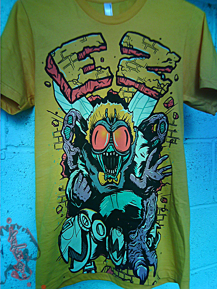 """Electric Zombie"" limted edition - Bug Eyes Gold Tee { BAXTER STOCKMAN } //  A (( 2009 ))"