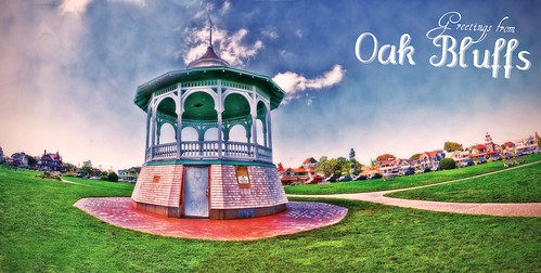 A Panorama of Oak Bluffs' Gazebo