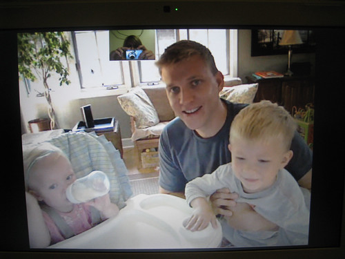 hanging out with my brother & the kiddos on Skype