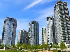 new condo towers in Vancouver (by: Viton Vitanis, creative commons license)