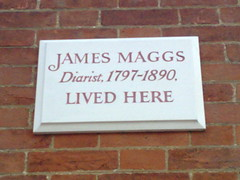 Photo of James Maggs white plaque