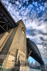 _DSC8171_hdr (zzzoz) Tags: city bridge point harbour sydney australia hdr coluds milsons superwideangle