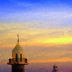 Mosque (Lulot Ruiz) Tags: sunset collage saturated muslim mosque ramadan renewal ksa alkhobar texturizing monthoframadan sonyalphadslra200 multipleexposurecollage