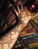 Traditional Intricate Henna on Hand & Arm Volcano Blue Henna