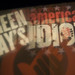 09242 Green Day's American Idiot courtyard light projection (fading in) by geekstinkbreath