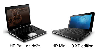 HP netbook laptop computer