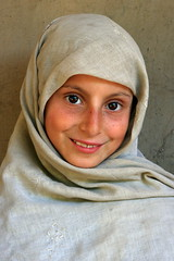 Kashmiri Girl (Amir Mukhtar Mughal | www.amirmukhtar.com) Tags: pakistan portrait people cute girl beautiful smile face look canon children eyes mask hijab cover amir kashmir mughal kutan mughals amirmukhtar