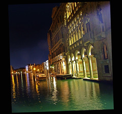 By night (Madiash) Tags: city venice italy art history architecture night ancient europe italia cityscape atmosphere citylights venezia canalgrande cadoro abigfave flickrdiamond theunforgettablepictures fotocompetition fotocompetitionbronze flickrunitedaward