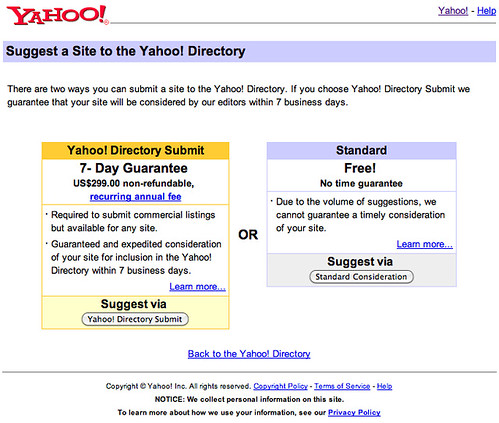Yahoo Directory Open For Business