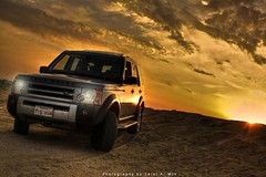 (Talal Al-Mtn) Tags: road light red sky orange 3 clouds speed canon silver disco eos rebel high sand automobile desert natural offroad 4x4 body d dunes magic gray automotive rover off line adventure automatic land years kit kuwait landrover discovery range rangerover 60 offroading xsi q8 ksa hst lr3 kwt xti 450d discovery3 canon450d inkuwait landrover3 talalalmtn  bytalalalmtn