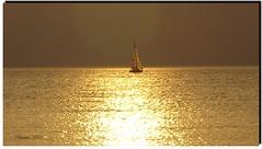alone to the sunset (marina 2010) Tags: sunset sea barca tramonto mare vela solitudine pentaxiani mmmilikeit marina2010