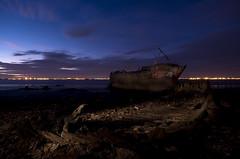 Goxhill Haven (Esther Seijmonsbergen) Tags: longexposure sunset lightpainting river boat ship lincolnshire shipwreck esther wreck stranded humber goxhill sooc humberestuary estherseijmonsbergen seijmonsbergen goxhillhaven