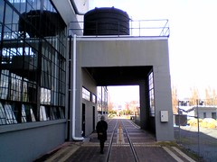 Tram track under the  School of Architecture,