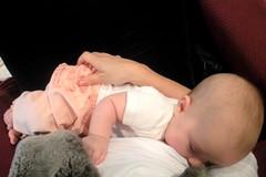 Breastfeeding: 106 days old (Mandolin3142) Tags: woman baby white me girl mother parent breastfeeding 2009 nursing