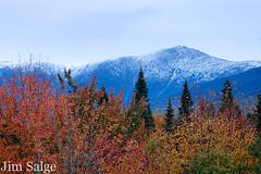 First Frosting on Mount Washington... (Jim Salge) Tags: autumn snow fall seasons newhampshire whitemountains nh hampshire mtwashington foliage mountwashington brettonwoods crawfordnotch whitemountainnationalforest presidentialrange twinmountain