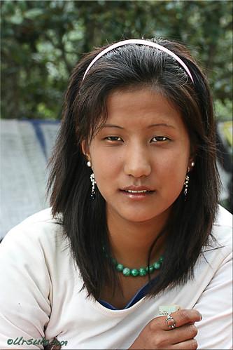 Photo of a Bhutanese girl