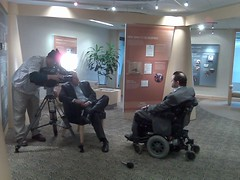 Channel 4 WDIV interviews Adam Niskar at Quicken Loans office before Artie Lang Benefit Concert