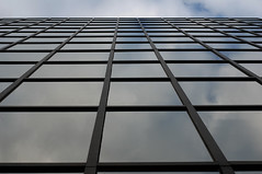The Space Between Us (sniderscion) Tags: sky toronto ontario canada reflection window glass up vertical wall architecture scott mirror nikon exterior cloudy squares geometry perspective canadian reflected snider nikkor50mmf14d d80 flickrgolfclub sniderscion tgamphotodeskgeometry