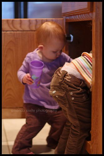 playing in cabinet