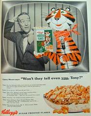 Kelloggs 1954 SUGAR FROSTED FLAKES vintage cereal advertisement (Christian Montone) Tags: 1950s kelloggs tonythetiger vintageillustration vintageadvertisements vintagecerealads