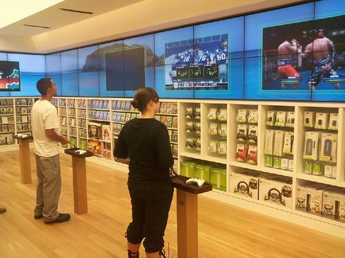 Visite d'un Microsoft Store en Californie