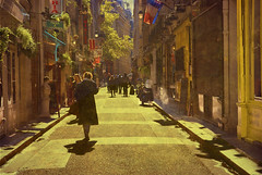 Grab your coat, and get your hat, Leave your worry on the doorstep Just direct your feet, To the sunny side of the street (itala2007) Tags: street sunset people urban paris france soe sunnyday itala2007 mastersgallery worldsartgallery