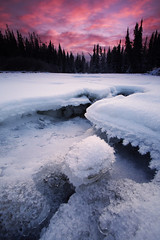 Winters Grasp (Wolfhorn) Tags: snow cold ice nature alaska sunrise landscape 10 widerness 3stop singhray revgrad