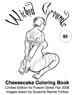 Cheesecake coloring book by Suzanne Forbes