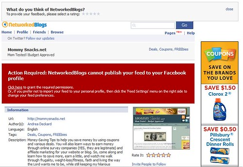 Facebook Post - Networked Blog