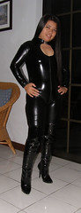 Choker (johnerly03) Tags: black fashion hair asian long boots philippines thigh filipina length catsuit erly