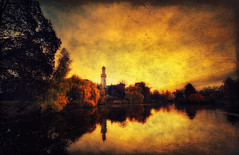 White Tower II (Philipp Klinger Photography) Tags: park autumn light shadow white color colour reflection tree tower fall texture nature water architecture germany landscape deutschland pond nikon colorful mess europe hessen bad vivid palace medieval colourful schloss turm philipp taunus schlosspark skeletal schlossgarten hesse badhomburg klinger weisser homburg d700 dcdead
