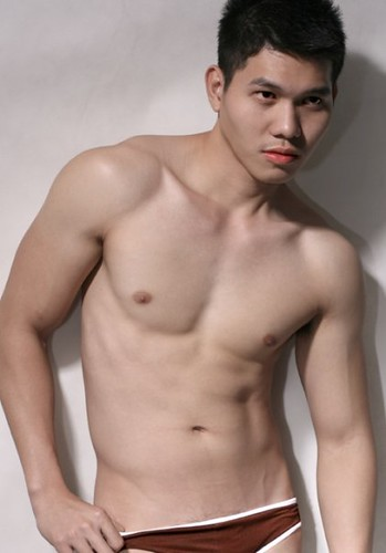 Kerwin Caballero sexy asian underwear male model
