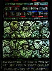 Foliate Panel (Aidan McRae Thomson) Tags: tamworth church staffordshire stainedglass window preraphaelite henryholiday