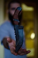 Knife magic (OsomAsFak) Tags: knife hand man levitate